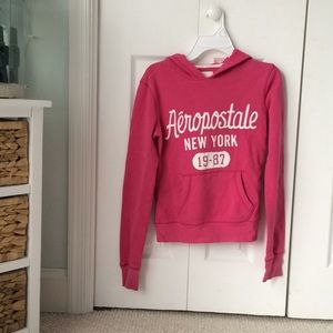Pink Aeropostale hooded sweatshirt